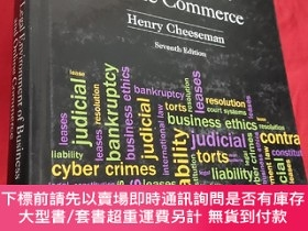 二手書博民逛書店The罕見Legal Environment of Business and Online Commerce (大