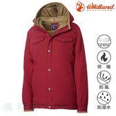 荒野WILDLAND 女款鵝絨防潑水極暖外套 赭紅色 0A62993 羽絨衣 羽絨外套 防寒外套 OUTDOOR NICE