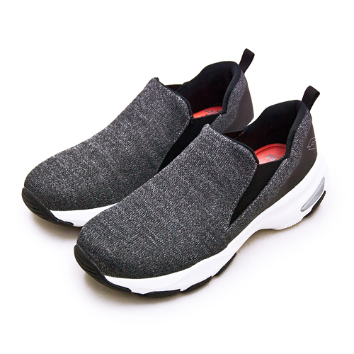 LIKA夢 LOTTO 增高厚底美型輕便健走鞋 EASY WEAR 系列 灰黑 1238 女