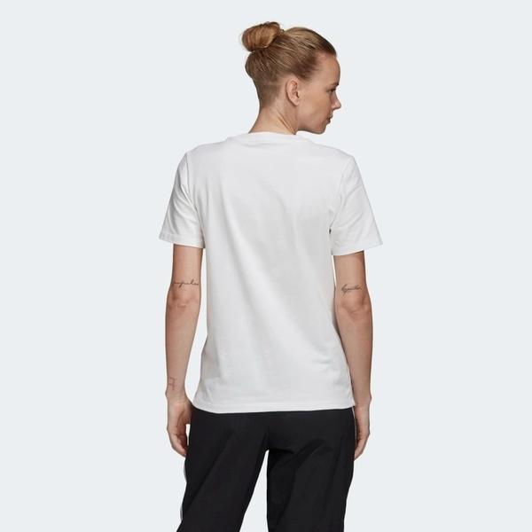 ADIDAS TREFOIL TEE 女裝 短袖 休閒 三葉草 棉質 基本款 黃LOGO白【運動世界】FM3292