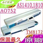 ACER 電池(原廠)-AS1810T,AS1410,FO200,AO521 AO752,TM8172T,TM8172G TM8172Z,752H,UMO9E36,(白)