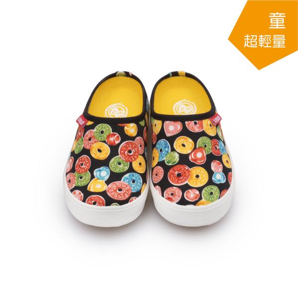 【A.MOUR 經典手工鞋】輕履童鞋系列- 糖果黑 / 休閒鞋 / 平底鞋 / 嚴選布料 / 柔軟透氣 /DH-3569