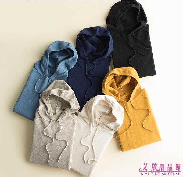 外套 羊毛連帽寬鬆打底大碼針織外套 11色/S-3XL