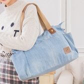 Kiro貓‧丹寧牛仔 休閒 外出 手提/肩背/斜背包/兩用包/行李袋【25003501】