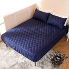 #現貨[單人] 床包式保潔墊 防潑水 3M技術 【深藍色】 保護床墊 抗污 好清洗