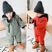 嬰兒連體衣加厚秋冬裝男女寶寶哈衣新生兒秋季衣服冬季外出棉服潮