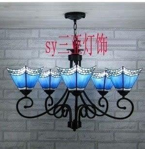 設計師美術精品館廠家直銷蒂凡尼燈飾燈具地中海客廳臥室多頭吊燈 5頭餐廳大吊燈