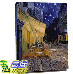 [COSCO代購] W122910 梵谷-夜晚露天咖啡座松木框油畫 30x45CM