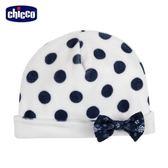 chicco-午茶時光系列-剪毛絨圓點嬰兒帽-米