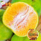 果之家 東勢當季爆汁酸甜25A綠皮椪柑5台斤