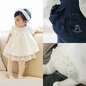 Augelute Baby 甜美蕾絲花邊連褲襪 女童全棉防滑褲襪 60373