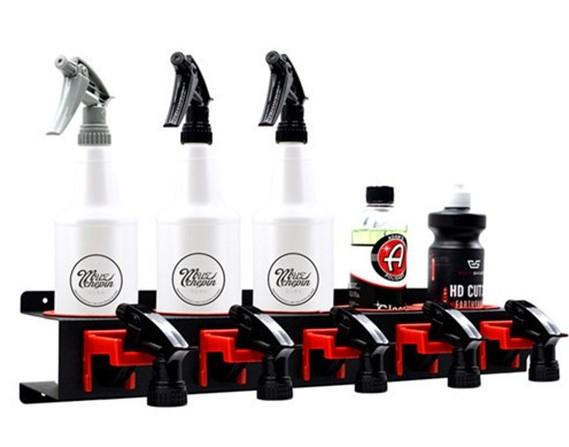 汽車美容噴壺掛架 家用汽車鍍膜洗車店專用放置噴壺蠟罐瓶研磨劑掛架