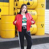 ★韓美姬★中大尺碼~寬鬆仿小羊皮夾克外套(XXL~3XL)