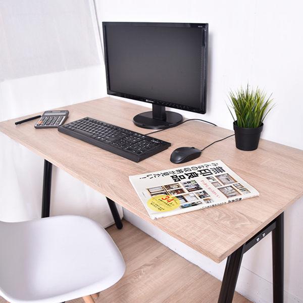 凱堡 桌子書桌A字工作桌電腦桌 原木 (附電線孔蓋)【B13045S】