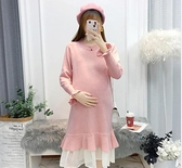 孕婦秋裝套裝時尚款潮媽新款毛衣中長秋冬款洋裝冬裝上衣女