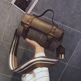 包包女新款潮韓版時尚格子小包斜挎包少女百搭手提單肩包 【販衣小築】