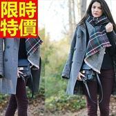 羊毛披肩-日式學院風格子加厚保暖女圍巾63ag46[巴黎精品]