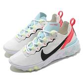【海外限定】Nike 慢跑鞋 Wmns React Element 55 白 綠 女鞋 運動鞋 【ACS】 DB5926-101