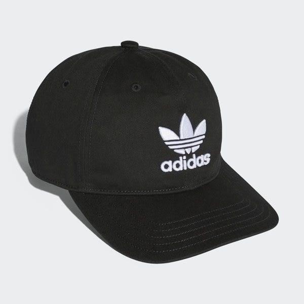【現貨折卷後688】CLASSICK adidas 帽子 Trefoil Cap 黑 白 三葉草 老帽 黑底 黑色 男女款 可調整 BK7277