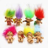 Troll Doll巨魔娃娃玩具 印第安毛孩注塑公仔復古玩偶 魔發精靈       蜜拉貝爾