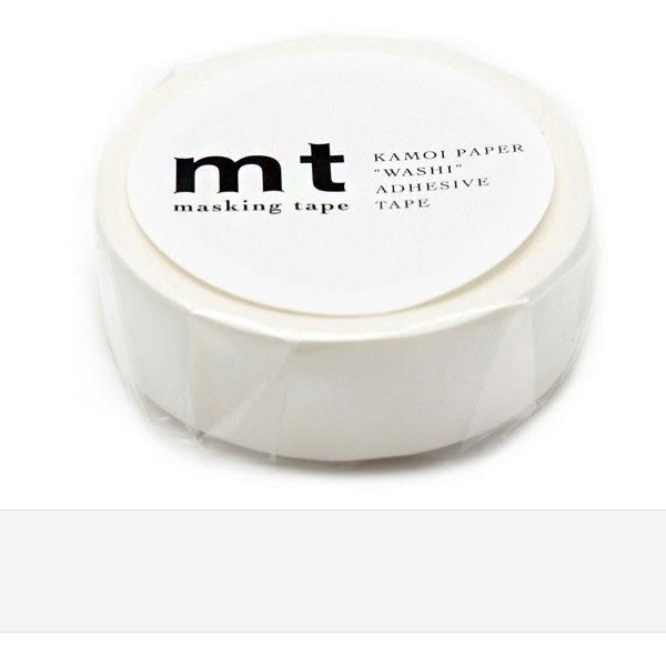 日本mt Masking Tape 和紙膠帶 白色 15mm