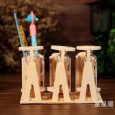 創意可愛實用木質沙漏筆筒擺件學生禮品創意生日畢業季禮物送男女