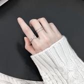 飾悟設計簡約幾何開口戒純銀戒指女日韓潮人學生個性食指戒指環女   LannaS