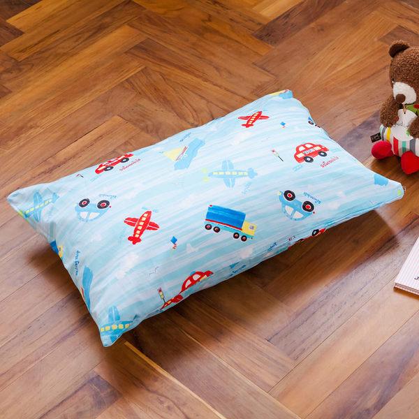 枕頭 兒童枕-防蹣抗菌纖維枕/精梳棉/夢想號/美國棉授權品牌[鴻宇]台灣製1573