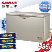 SANLUX台灣三洋 386L 上掀式無霜冷凍櫃 SCF-386GF 含原廠配送及拆箱定位