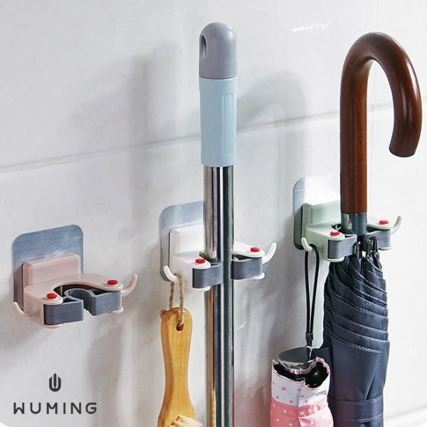 無痕 拖把 掛勾夾 雨傘 收納架 浴室 掛架 掛鉤 掛勾 壁掛 收納 居家 掃把 吸盤 『無名』 N12105