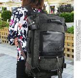 後背包男旅行包多功能休閒後背背包男女潮時尚旅游包后背包男包 伊蒂斯女裝