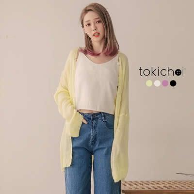 東京著衣-換季必備微透針織外套(181572)