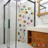 壁貼【橘果設計】魚兒水中游 DIY組合壁貼 牆貼 壁紙 室內設計 裝潢 無痕壁貼 佈置