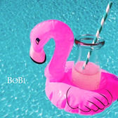 飲料座 火鶴小粉鶴充氣飲料泳圈 水上飲料架【SF003】 BOBI  08/04