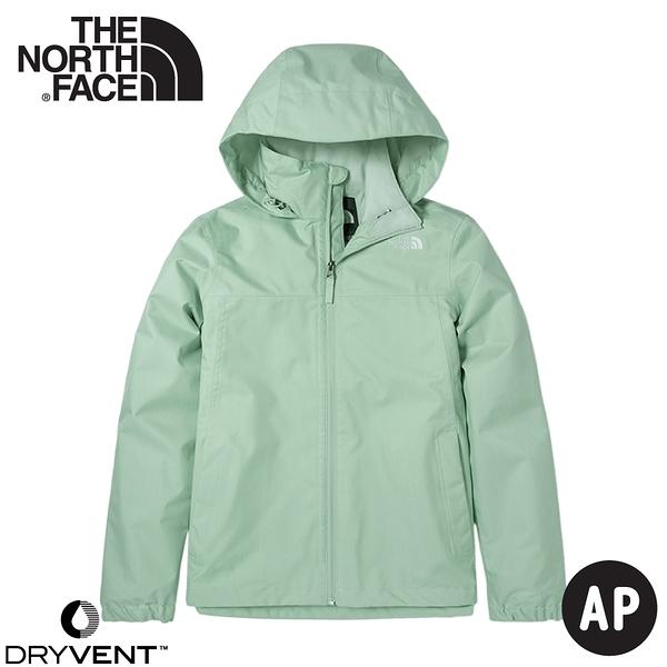 【The North Face 女 DV 防水外套《粉綠》】4N9V/防水透氣衝鋒衣/風雨衣