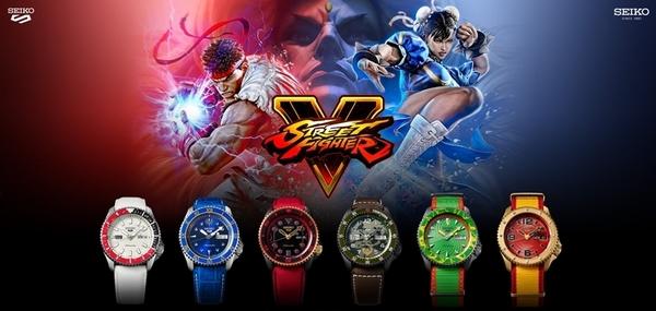 (現貨販售中)SEIKO 5 Sports X Street Fighter V 快打旋風限量聯名款 4R36-08R0R/SRPF20K1肯
