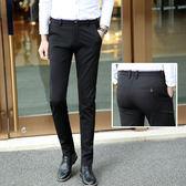 春季新款長褲男韓版修身西褲小腳西裝褲