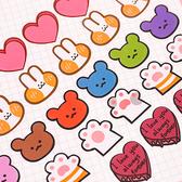 【BlueCat】愛心蛋糕小兔小熊貓掌標籤貼紙