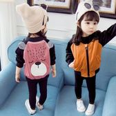 限定款厚外套 女童外套春秋快速出貨免運秋裝3歲1公主正韓小童女孩女寶寶洋氣鋪克潮