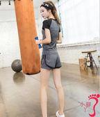 短袖褲裝 休閒運動套裝速干瑜伽服女跑步兩件套健身房短褲短袖