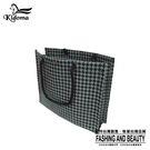 手提袋-編織袋(L)-黑灰千鳥-01C...