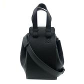 【台中米蘭站】全新品 LOEWE Hammock 牛皮手提斜背二用包吊床包-小(黑)