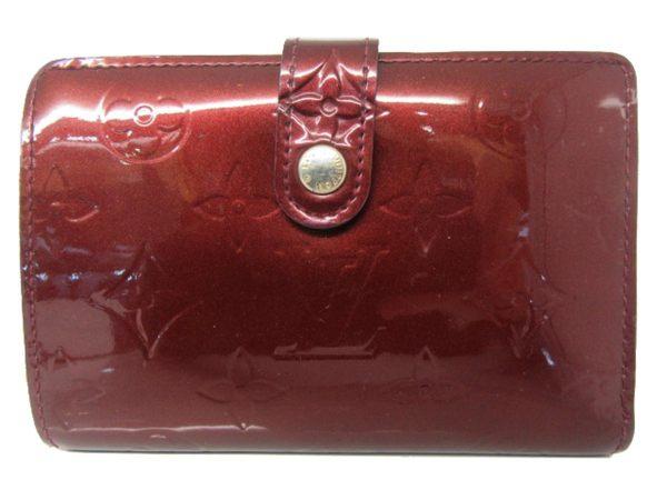 【特價24%OFF】LOUIS VUITTON LV 酒紅色漆皮中夾 Viennois M91524【BRAND OFF】