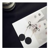 素描歌德風黑色花骨朵長款氣質個性耳釘裝飾品女SQ1274『伊人雅舍』