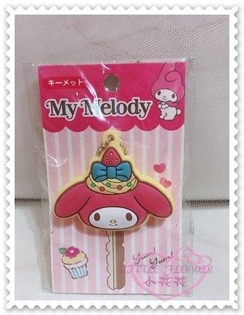 ♥小花花日本精品♥Hello Kitty 美樂蒂Melody鑰匙套鑰匙圈大頭造型鑰匙套蝴蝶結草莓粉色 58900703