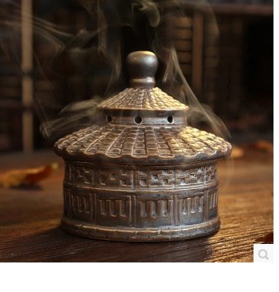 鐵鏽釉復古香爐A123