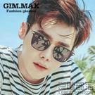 青陌新韓國明星款偏光太陽鏡眼鏡男士復古長方形個性墨鏡潮流(送拉鏈盒)【萊爾富免運】