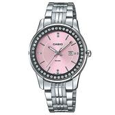 【CASIO】天空之城晶鑽女伶不鏽鋼優雅腕錶-粉(LTP-1358D-4A2)