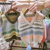 男女童針織馬甲韓版春秋裝條紋寶寶上衣兒童背心毛衣 樂淘淘