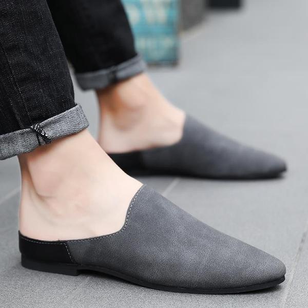 休閒拖鞋男夏季懶人半拖鞋